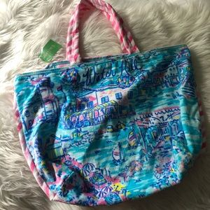Lilly Pulitzer towel tote